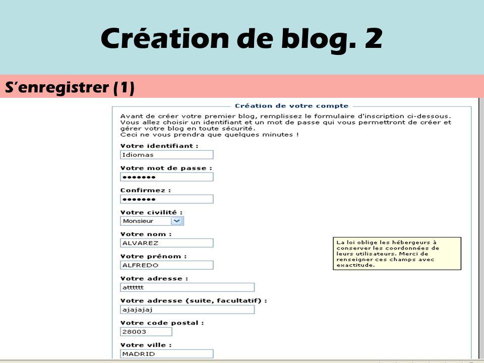 Création de blog. 2 Senregistrer (1)