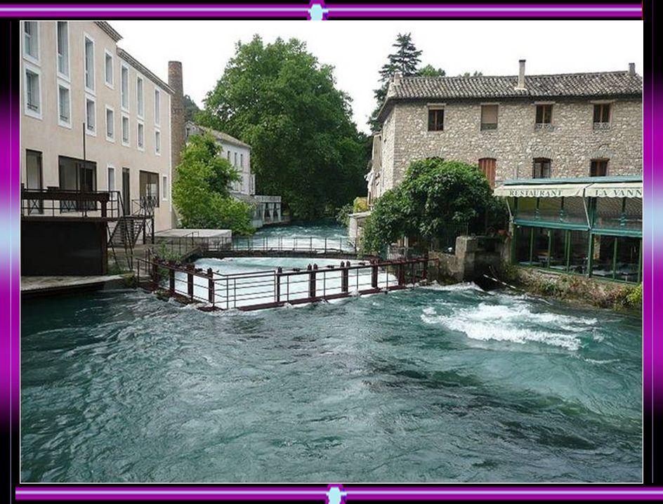 La Sorgue à la Fontaine-de-Vaucluse à 1,50 mètres