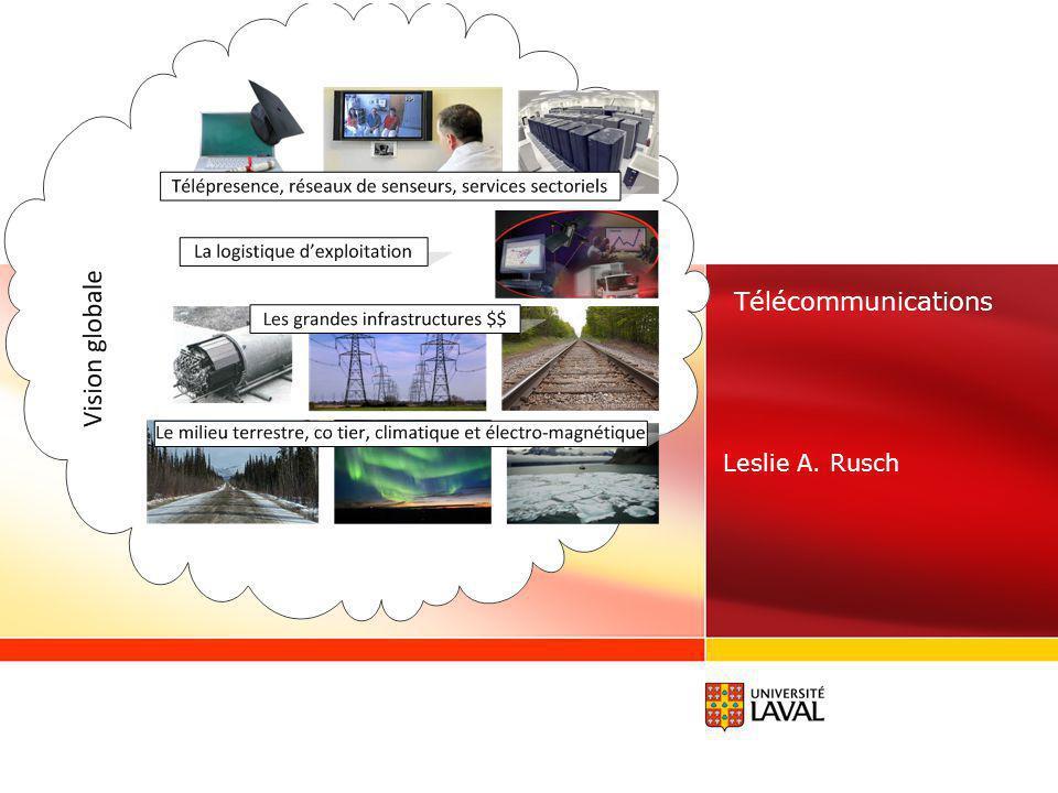 www.ulaval.ca 2 Notre dépendance sur les télécommunications Qualité de vie Sécurité Développement économique Bien-être (des individus et de la société) Clé pour exploiter la haute technologie Manque dinfrastructures au Nord du Québec