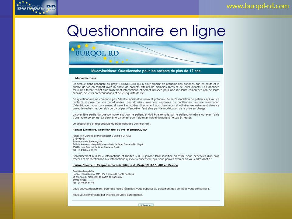 Questionnaire en ligne www.burqol-rd.com