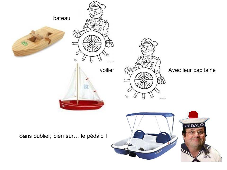 bateau voilier Sans oublier, bien sur… le pédalo ! Avec leur capitaine