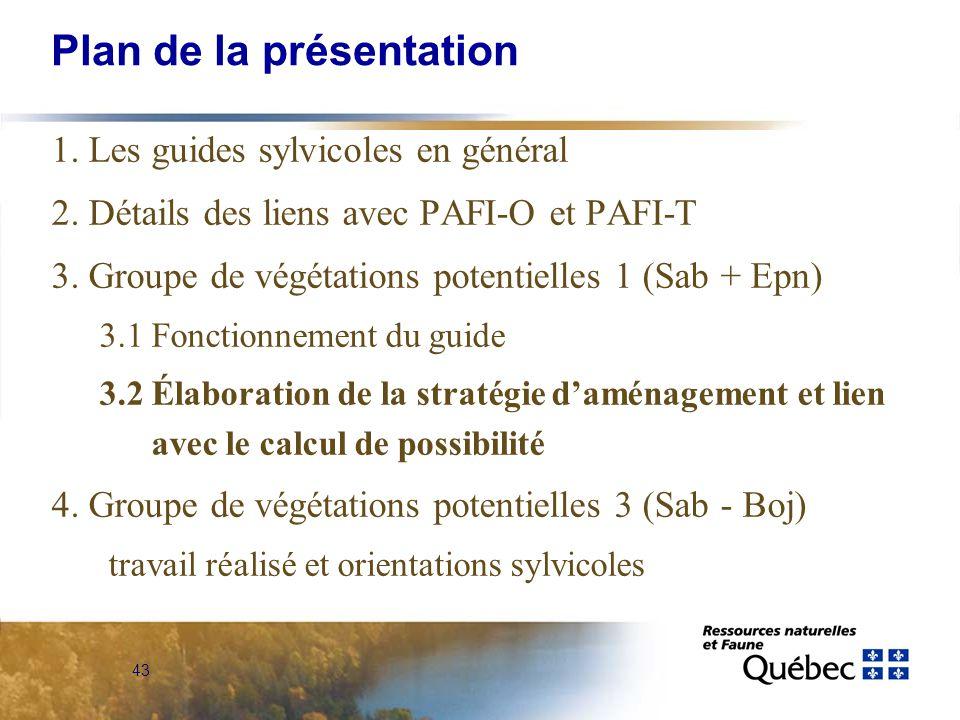 43 Plan de la présentation 1. Les guides sylvicoles en général 2.