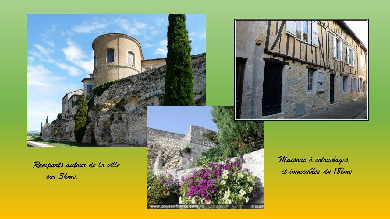 Sur un éperon rocheux sur les collines de Gascogne ancienne cité gallo-romaine,