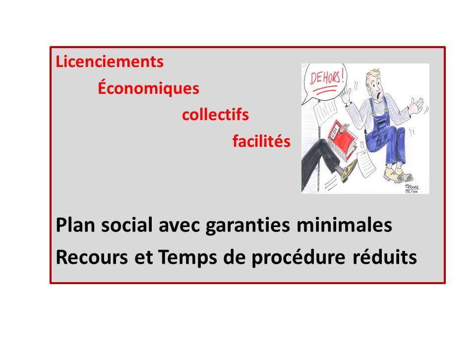 Licenciements Économiques collectifs facilités Plan social avec garanties minimales Recours et Temps de procédure réduits