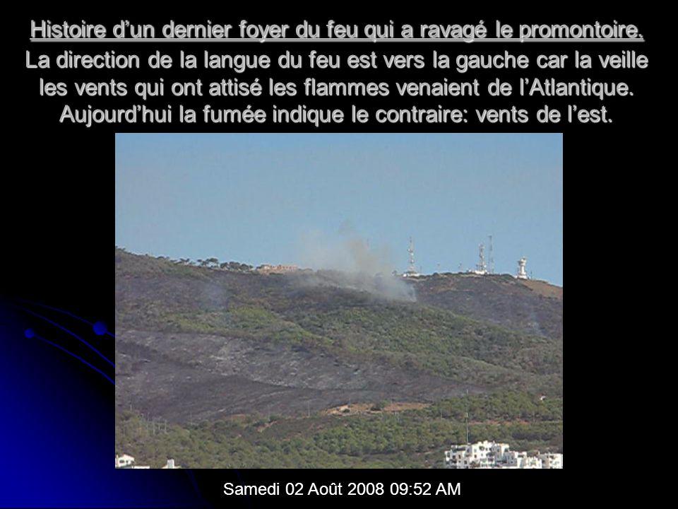 Histoire dun dernier foyer du feu qui a ravagé le promontoire.
