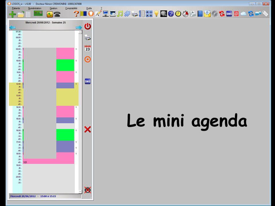 Le mini agenda