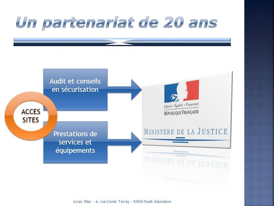 Audit et conseils en sécurisation Prestations de services et équipements ACCES SITES Acces Sites - 6, rue Lionel Terray - 92500 Rueil Malmaison