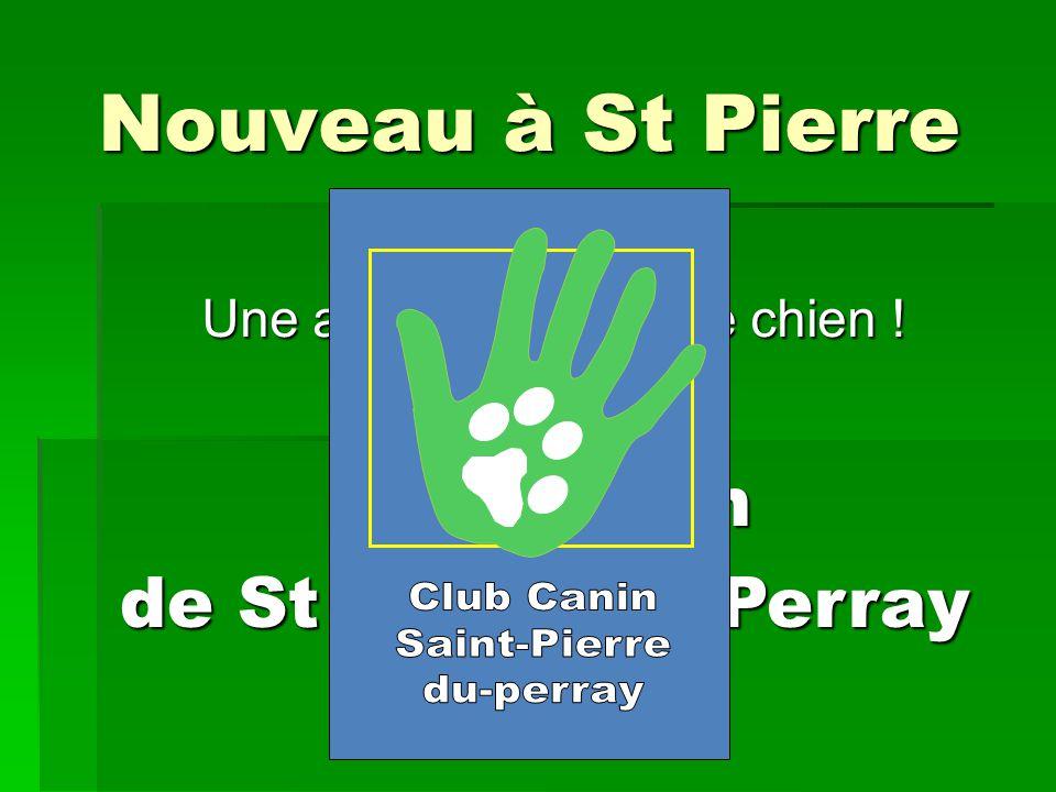 Nouveau à St Pierre Une activité avec votre chien ! Club Canin de St Pierre du Perray