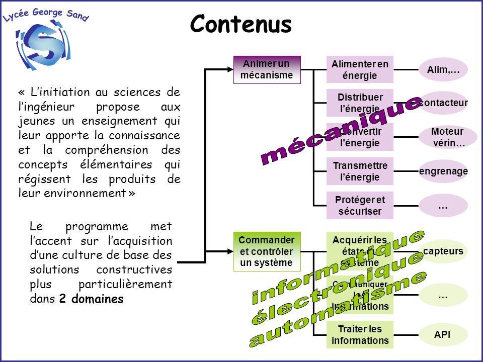 Méthodologie / Activités OBSERVER ANALYSER EXPERIMENTER COMPARERMODELISER MONTER DEMONTER REPRESENTER SIMULER