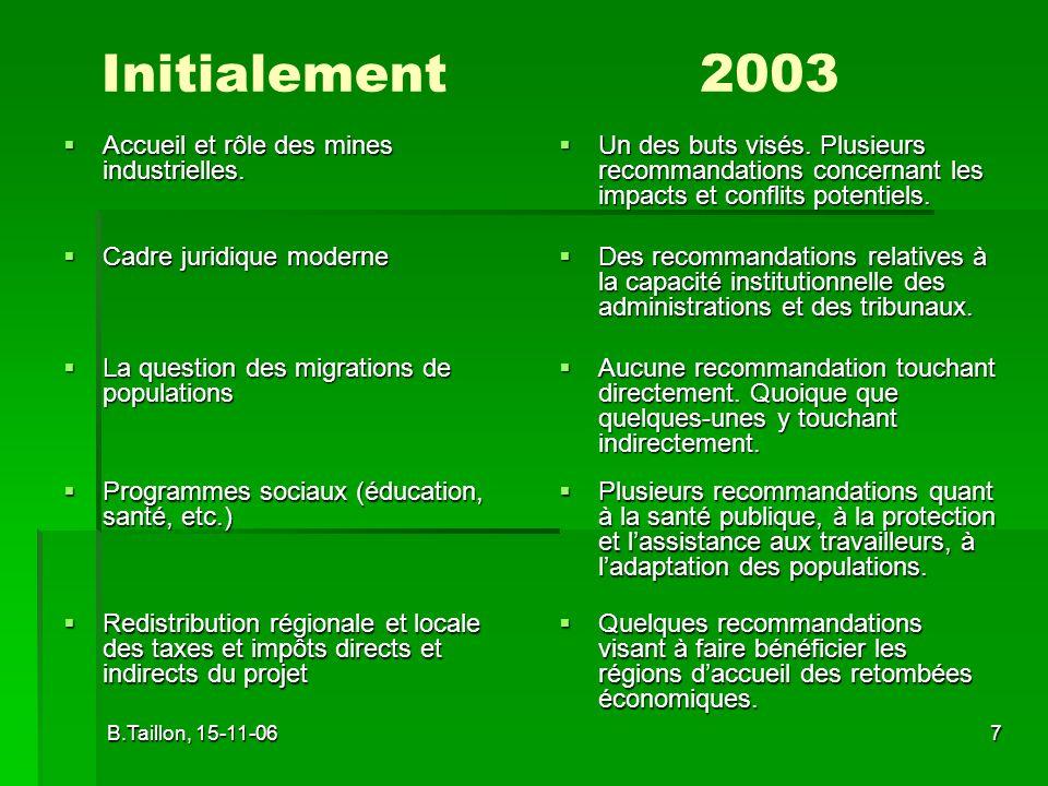 B.Taillon, 15-11-068 Intégration de lanalyse stratégique, régionale et locale dun grand projet