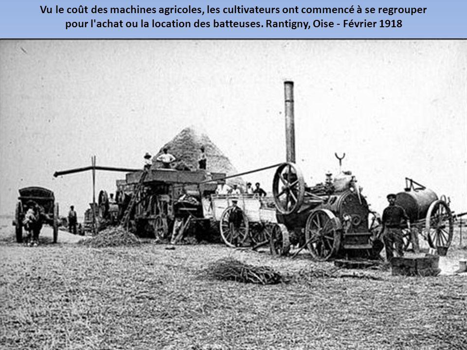 Vu le coût des machines agricoles, les cultivateurs ont commencé à se regrouper pour l achat ou la location des batteuses.