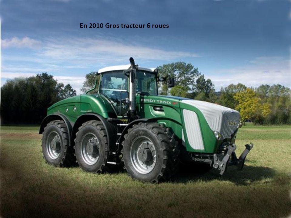 En 2010 tracteur 8 roues jumelées