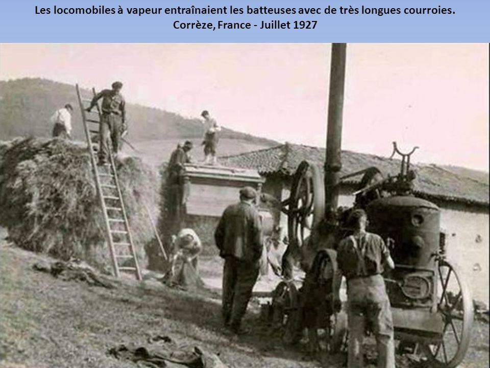 Les moissons étaient un événement important de la vie rurale. En témoigne cette carte postale ancienne. Anrosey, Haute-Marne - Mai 1925