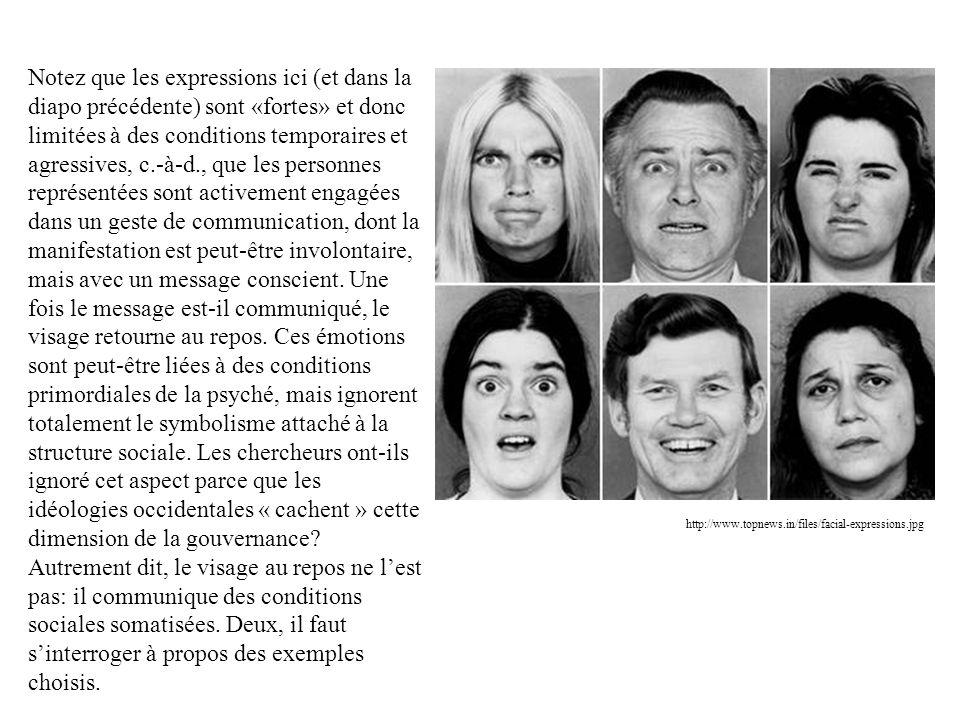 http://www.topnews.in/files/facial-expressions.jpg Notez que les expressions ici (et dans la diapo précédente) sont «fortes» et donc limitées à des co