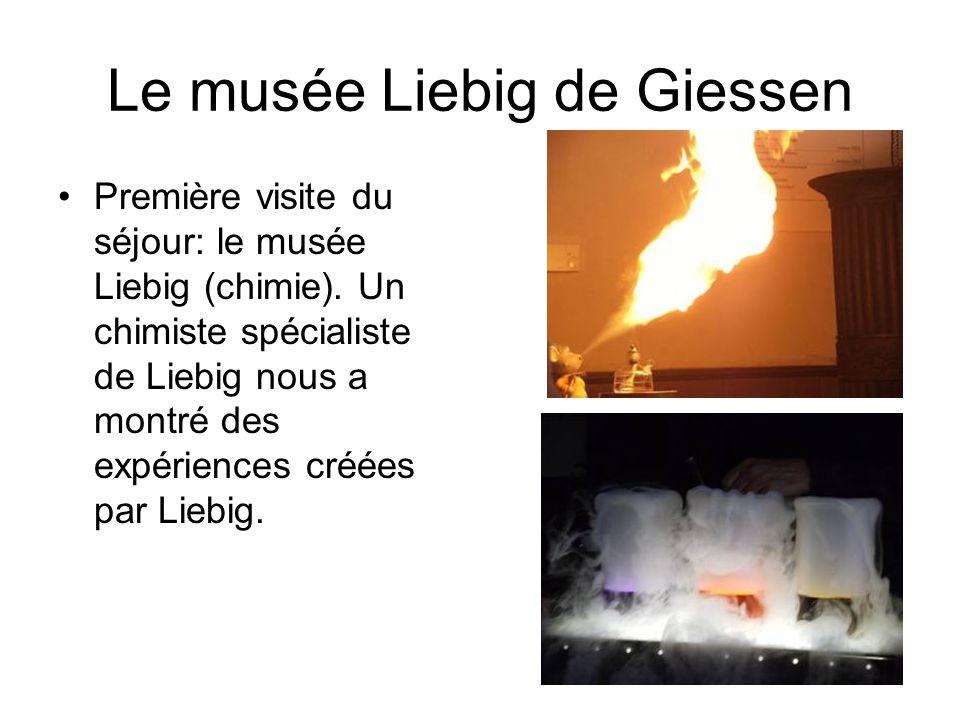 Le musée Liebig de Giessen Première visite du séjour: le musée Liebig (chimie).