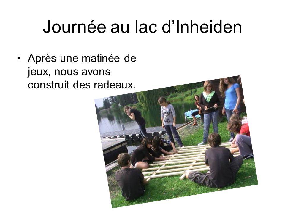 Journée au lac dInheiden Après une matinée de jeux, nous avons construit des radeaux.