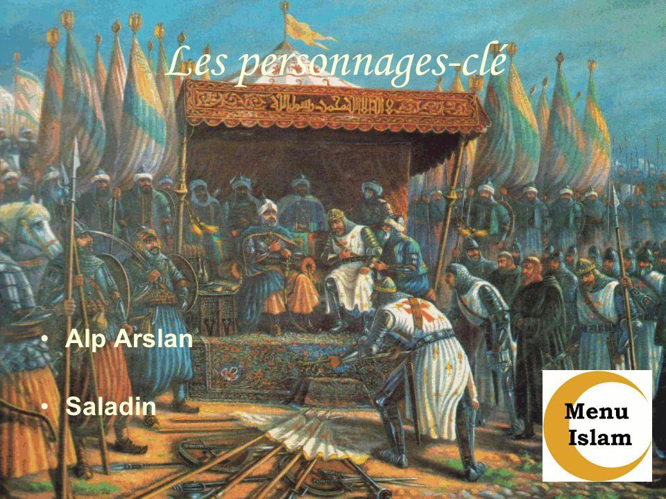 Les personnages-clé Alp Arslan Saladin