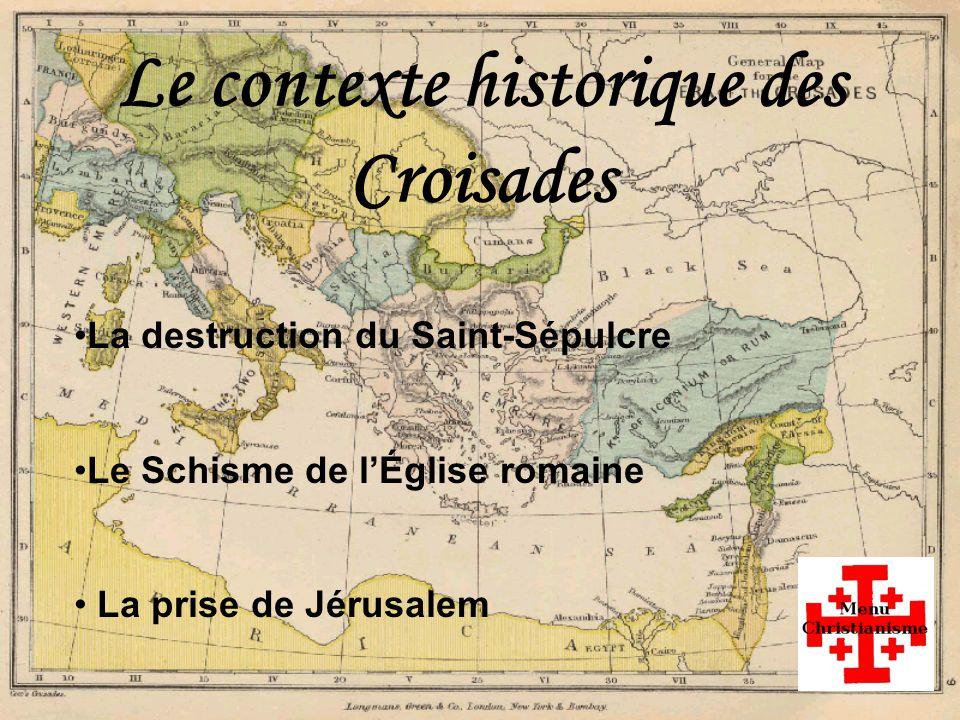 La destruction du Saint-Sépulcre PRÉCÉDENTSUIVANT Le Saint-Sépulcre, une église de Jérusalem, est considérée comme le saint des saints par les Chrétiens, car elle se trouve sur le lieu de la crucifixion de Jésus et le supposé lieu de son tombeau.