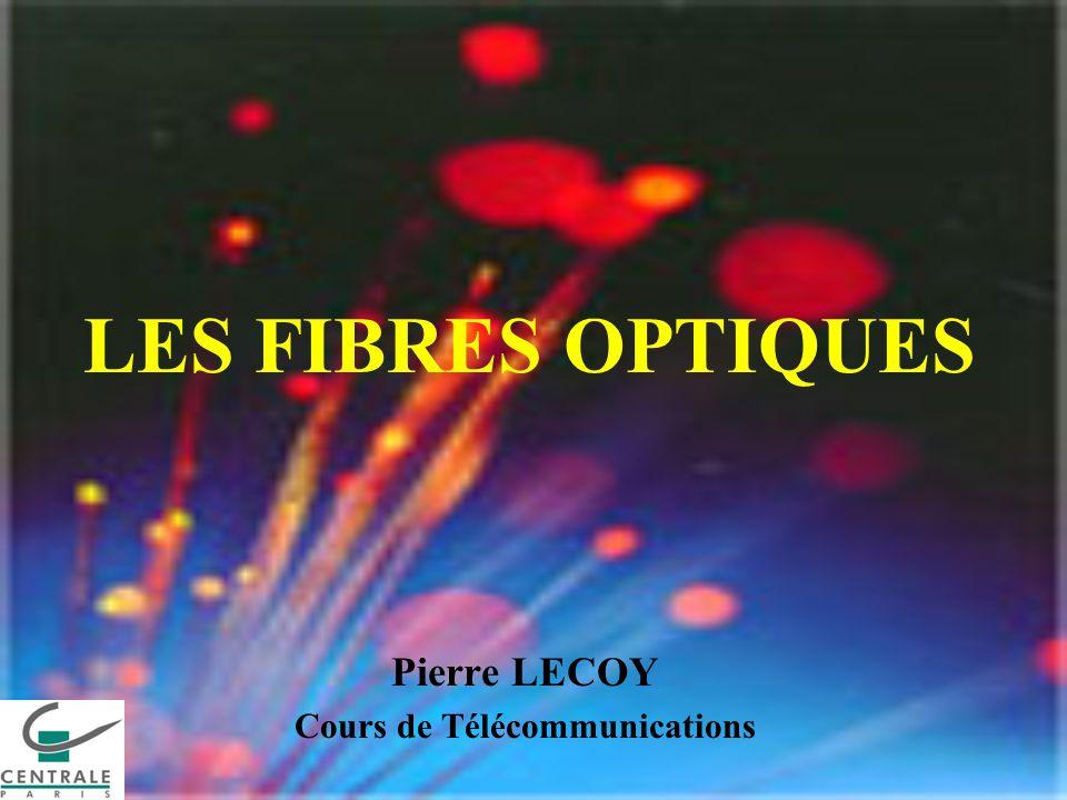 LES FIBRES OPTIQUES Pierre LECOY Cours de Télécommunications