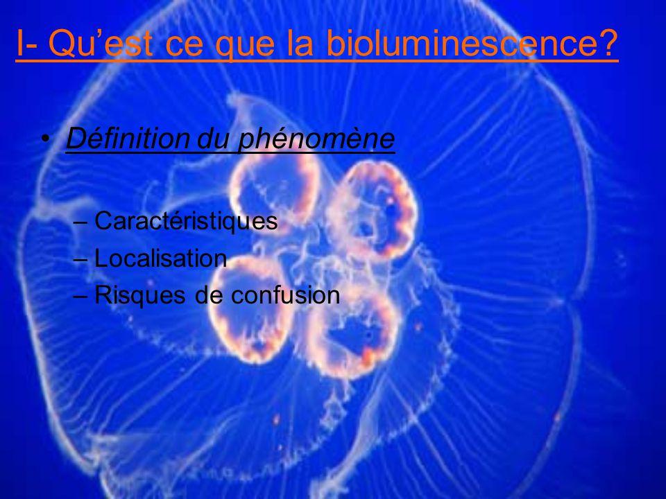 Principe de fonctionnement I- Quest ce que la bioluminescence?