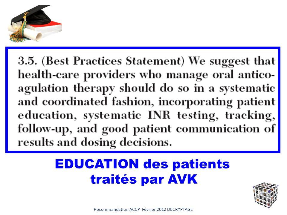 Plaquettes or not plaquettes ! Recommandation ACCP Février 2012 DECRYPTAGE