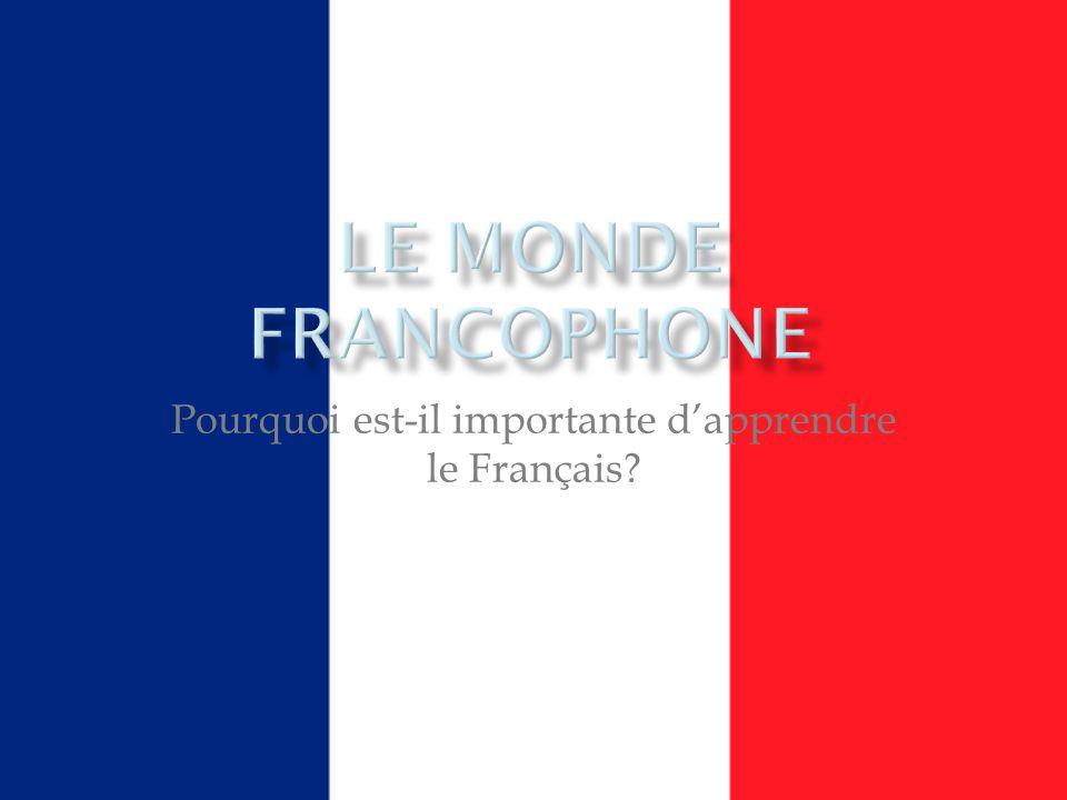 Pourquoi est-il importante dapprendre le Français?