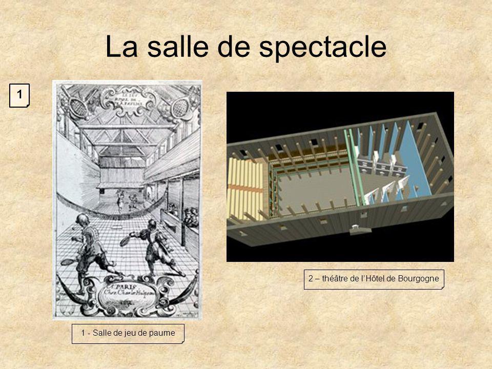 La salle de spectacle 1 - Salle de jeu de paume 2 – théâtre de lHôtel de Bourgogne 1