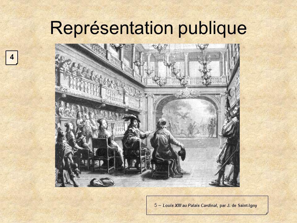 5 – Louis XIII au Palais Cardinal, par J. de Saint-Igny Représentation publique 4