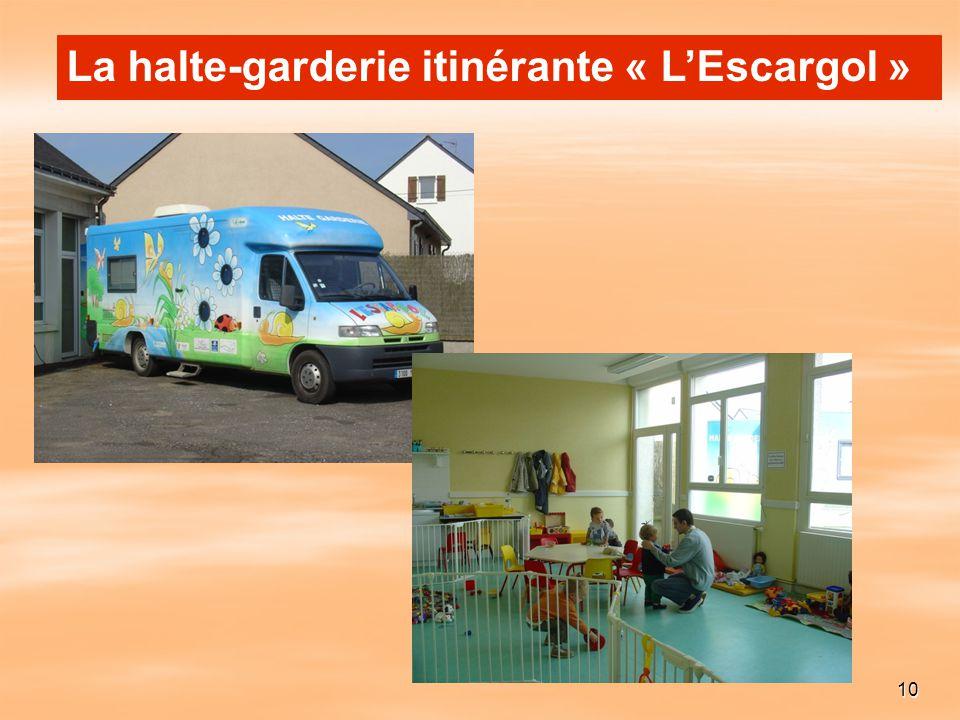 10 La halte-garderie itinérante « LEscargol »