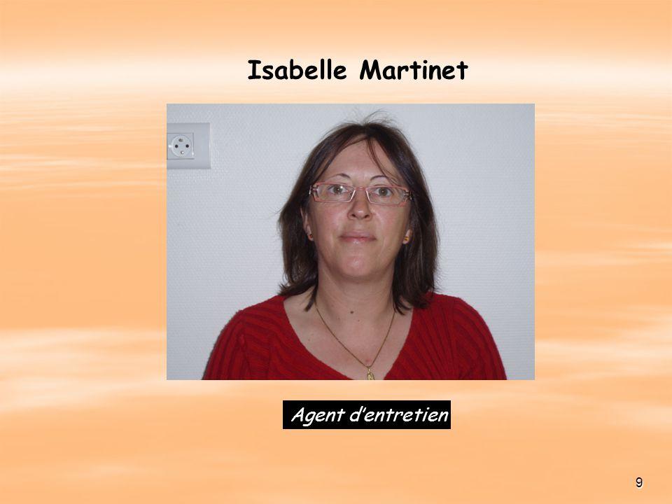 9 Agent dentretien Isabelle Martinet