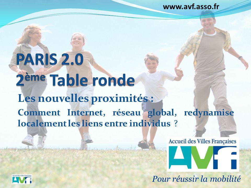 www.avf.asso.fr Les nouvelles proximités : Comment Internet, réseau global, redynamise localement les liens entre individus ? Pour réussir la mobilité