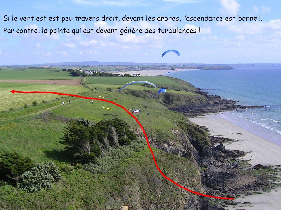 14 2005 www.vol-libre-menez-hom.com Si le vent est est peu travers droit, devant les arbres, lascendance est bonne !. Par contre, la pointe qui est de