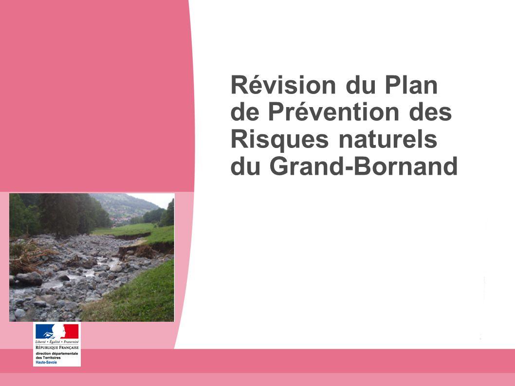 Révision du Plan de Prévention des Risques naturels du Grand-Bornand