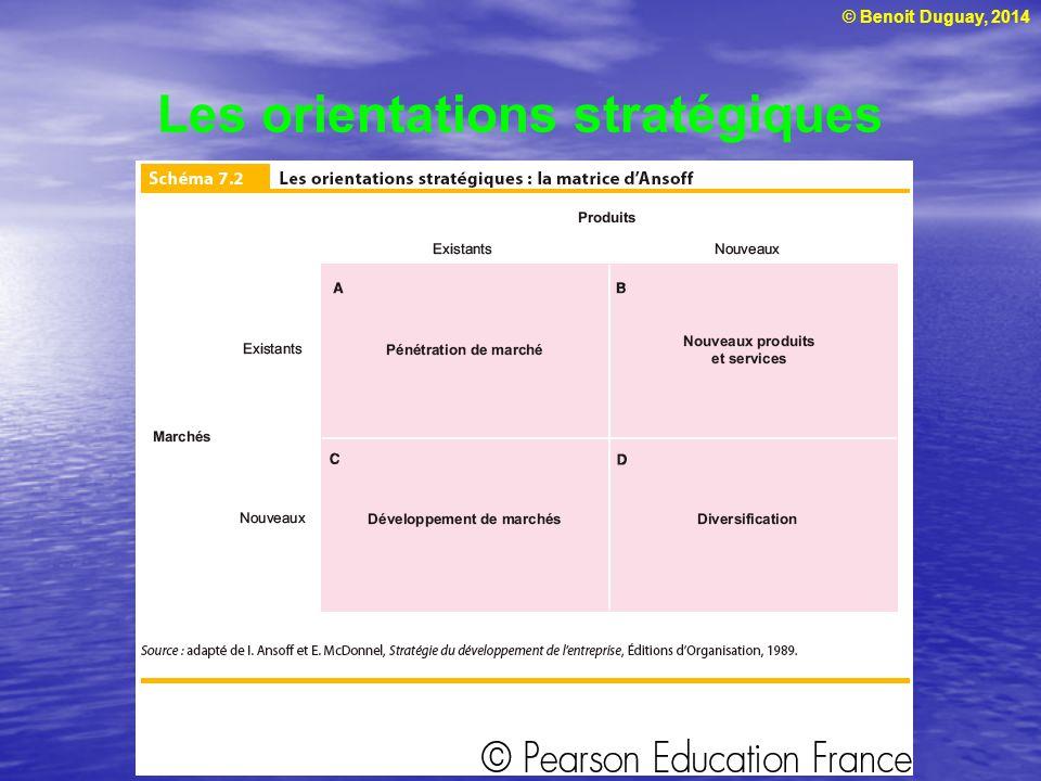 © Benoit Duguay, 2014 Les orientations stratégiques