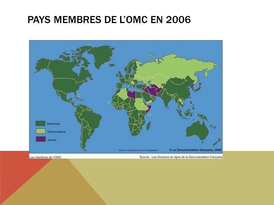 PAYS MEMBRES DE LOMC EN 2006