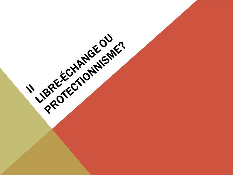II LIBRE-ÉCHANGE OU PROTECTIONNISME?