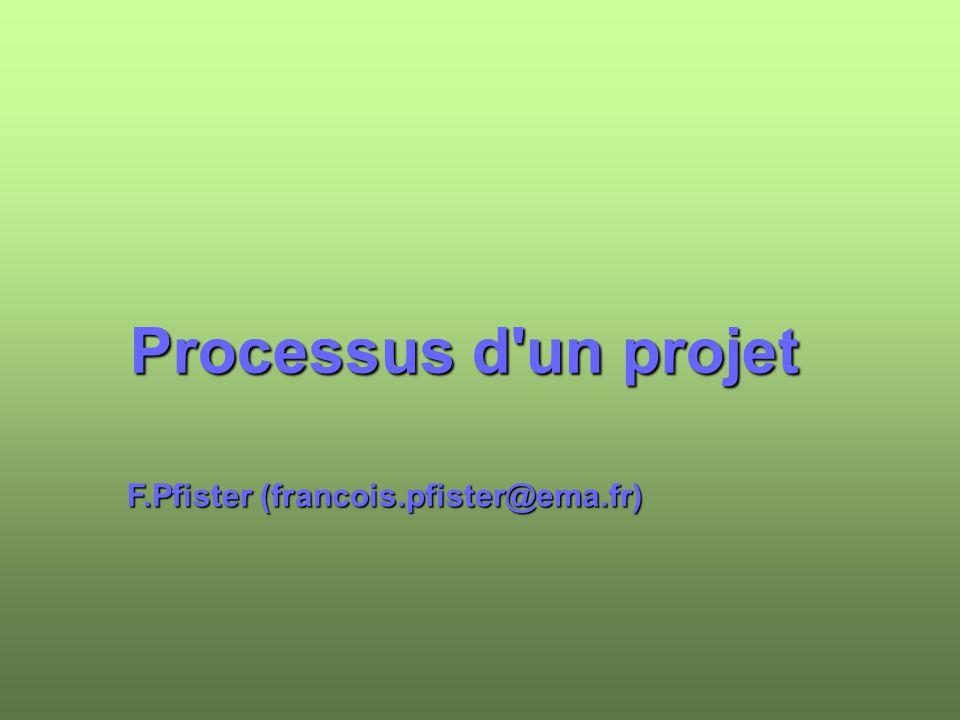 Processus d'un projet F.Pfister (francois.pfister@ema.fr)