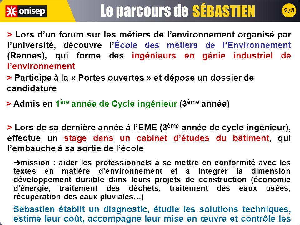 > Lors dun forum sur les métiers de lenvironnement organisé par luniversité, découvre lÉcole des métiers de lEnvironnement (Rennes), qui forme des ing