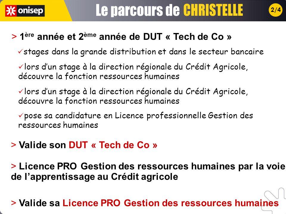2/4 > 1 ère année et 2 ème année de DUT « Tech de Co » > Valide son DUT « Tech de Co » lors dun stage à la direction régionale du Crédit Agricole, déc