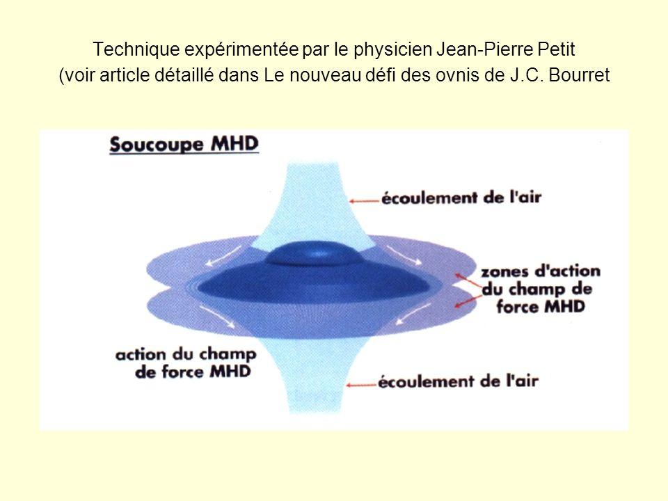Technique expérimentée par le physicien Jean-Pierre Petit (voir article détaillé dans Le nouveau défi des ovnis de J.C. Bourret