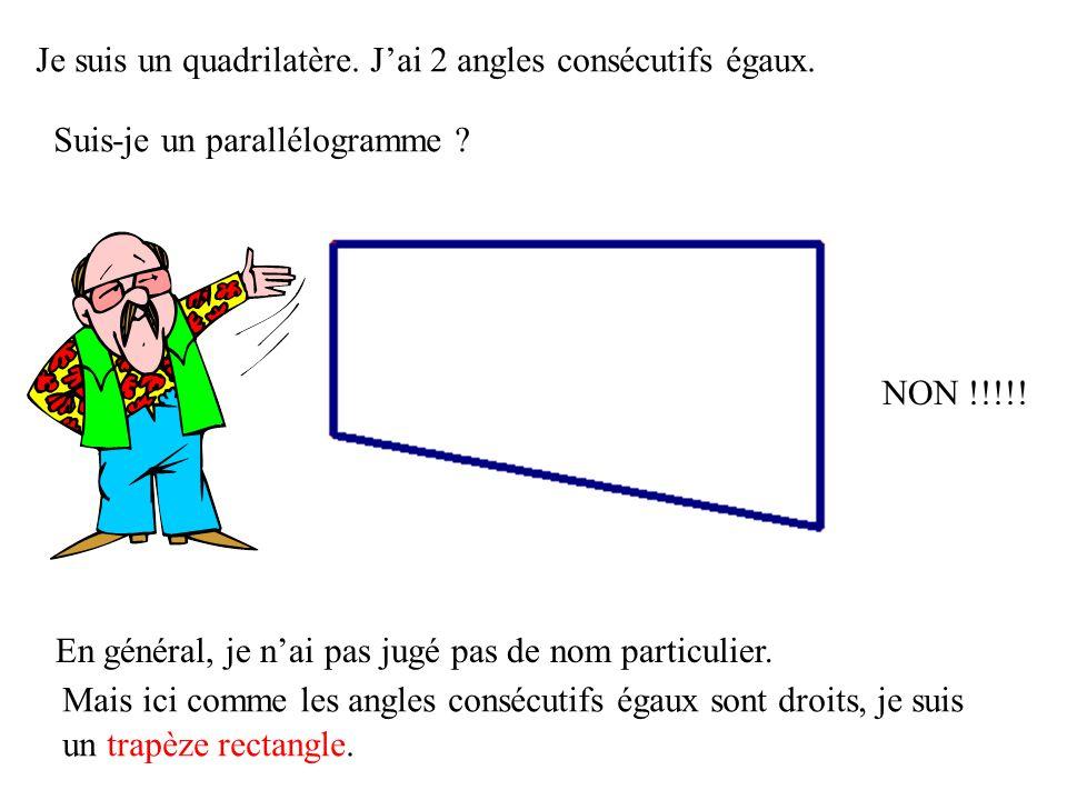 Je suis un quadrilatère et mes côtés opposés sont égaux 2 à 2. Suis-je un parallélogramme ? EH OUI !!!