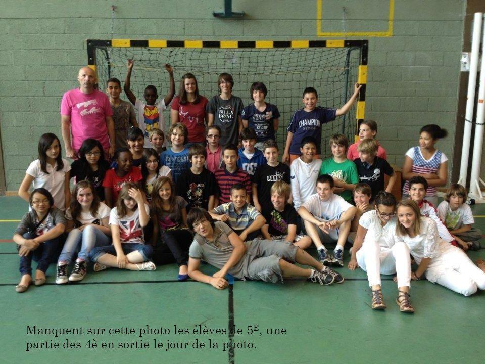 Manquent sur cette photo les élèves de 5 E, une partie des 4è en sortie le jour de la photo.