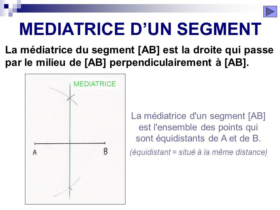 Le segment [AB] est découpé en trois segments de même longueur. ÉTAPE 10 DÉCOUPAGE SEGMENT