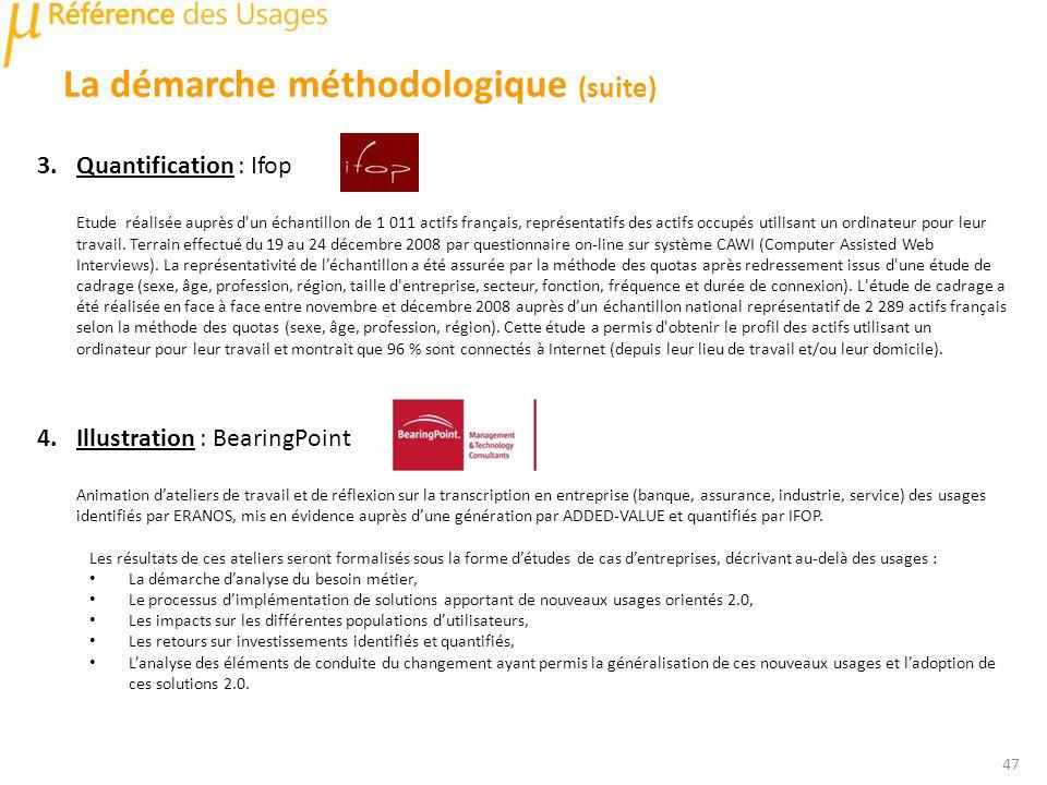 3.Quantification : Ifop Etude réalisée auprès d un échantillon de 1 011 actifs français, représentatifs des actifs occupés utilisant un ordinateur pour leur travail.