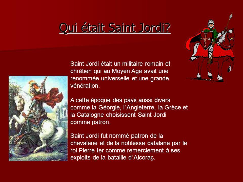Le 23 avril se célèbre la Saint Jordi patron et symbole de la Catalogne.