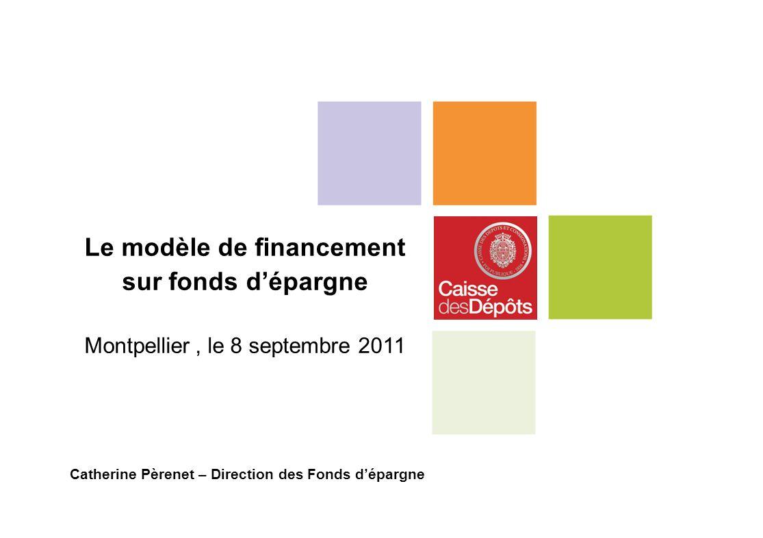 Le modèle de financement sur fonds dépargne Montpellier, le 8 septembre 2011 Catherine Pèrenet – Direction des Fonds dépargne