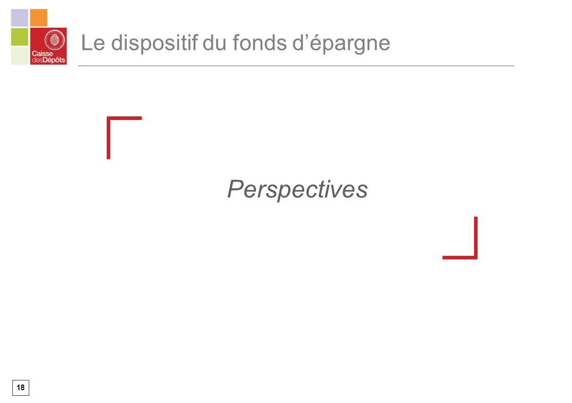 18 Le dispositif du fonds dépargne Perspectives
