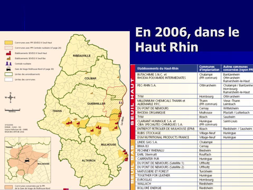 Conférence APHYSE 22 novembre 2007ICPE En 2006, dans le Haut Rhin