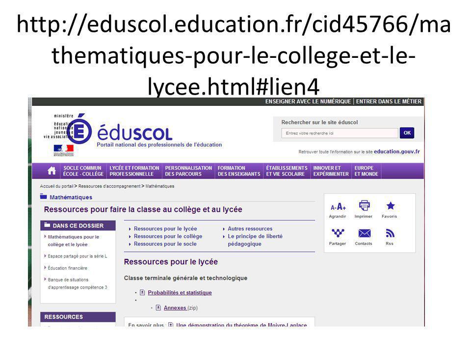 http://eduscol.education.fr/cid45766/ma thematiques-pour-le-college-et-le- lycee.html#lien4
