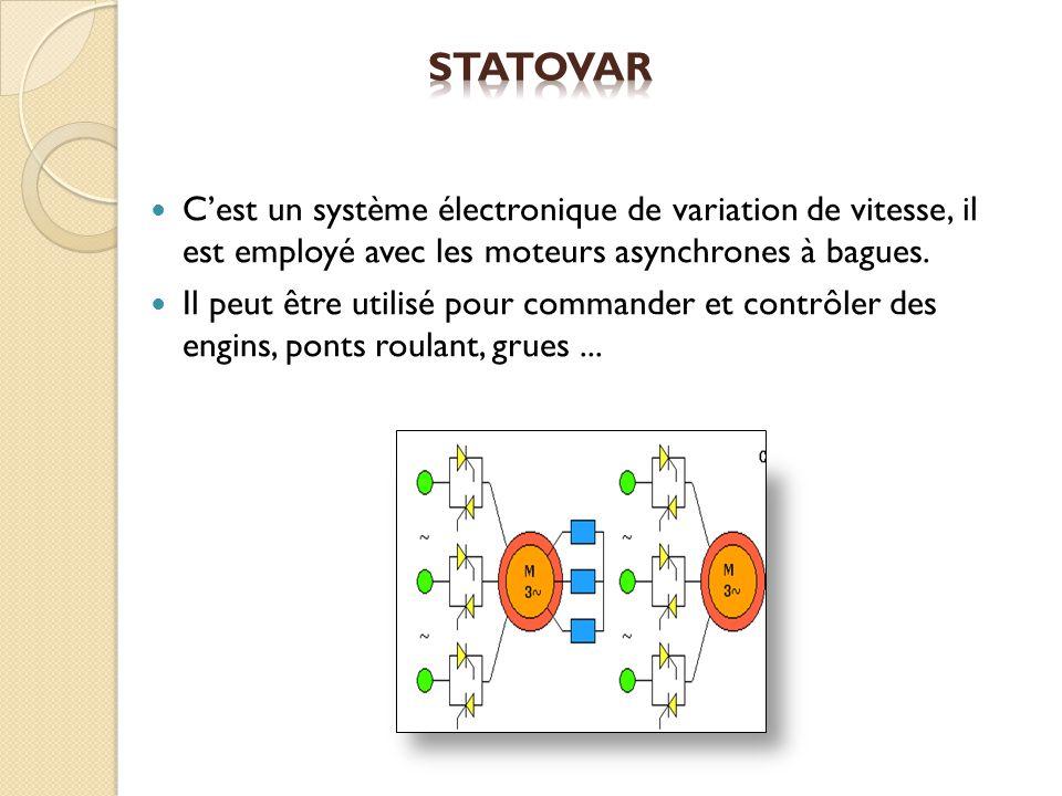 Cest un système électronique de variation de vitesse, il est employé avec les moteurs asynchrones à bagues. Il peut être utilisé pour commander et con